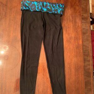 PINK Victoria's Secret black leggings Sz SP New